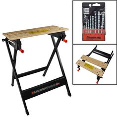 Black & Decker Workmate bench, with Free 8 piece Masonry Drill Set - XMS14WMATE
