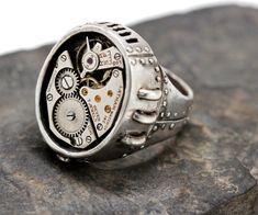 Cabeza muertos anillo vampiro half Skull con alas 925 plata señores señora regalo nuevo
