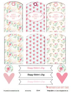 Free Printable Download - Floral Mother's Day Gift Tags   Vintage Glam Studio