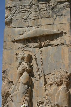 Persepolis  Even the ancients knew better than to stand out in the rain without protection!  Learn something ARMY!
