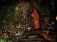 Chalice Well by candlelight.  So beautiful!