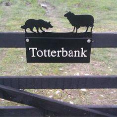 Sheep & Border Collie Farm Sign