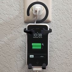 The Bondi Phone Holder will securely wrap around your IPhone and hold it in place while hanging from a car rearview mirror, computer, exercise bike or just about anywhere.  Simple.