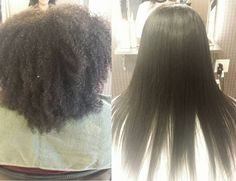 Super kinky hair gets transformed into beautiful straight hair. I love my work~ If you have any question, don't hesitate to contact me. Chemical Straightening, Japanese Hair Straightening, Permed Hairstyles, Straight Hairstyles, Japanese Straight Perm, Natural Hair Styles, Long Hair Styles, Japanese Hairstyle, Hair Regimen