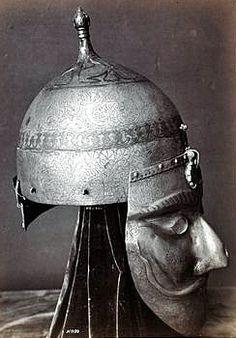 Indo-Persian helmet and war mask.