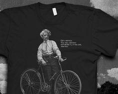 Hey, I found this really awesome Etsy listing at https://www.etsy.com/listing/159800751/mark-twain-bike-quote-tshirt-mens