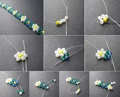 Best seed bead jewelry 2017 daisy chain of beads seed bead tutorials – Artofit Friendship Bracelets With Beads, Seed Bead Bracelets, Seed Bead Jewelry, Bead Jewellery, Jewellery Shops, Seed Beads, Jewelry Bracelets, Jewelry Findings, Jewellery Making