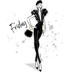 Megan Hess Illustration, Princess Illustration, Illustration Art, Fashion Sketchbook, Fashion Sketches, Art Sketches, Fashion Illustrations, Kerrie Hess, Hello Friday