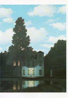 Rene Magritte. The Empire of Light. 1954. Musees Royaux des Beaux-Arts, Bruxelles.