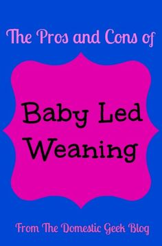 The Domestic Geek: Our Baby Led Weaning Journey