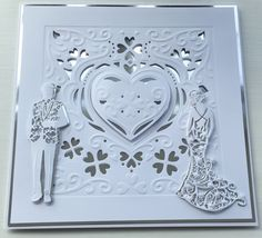 Wedding Card by Sospecial Cards using Crafters Companion Create a Card and Tonic Dies.