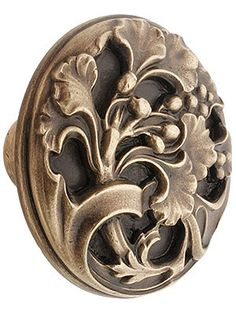 "House of Antique Hardware:  Hardware for Furniture. Ginkgo Leaf Cabinet Knob - 1 3/8"" Diameter"