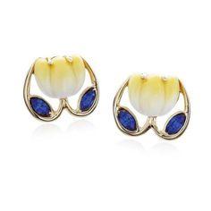 Tulip Earrings   Franz Jewelry   Porcelain