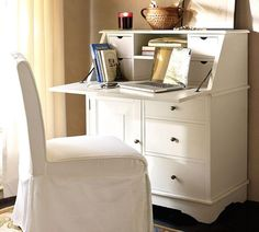 Cute, small and functional desk - I have a serious weakness/obsession with desks. I currently have five in my home- each with it's own designated use. Could always make room for one more. You'd think I'd be more organized  :)