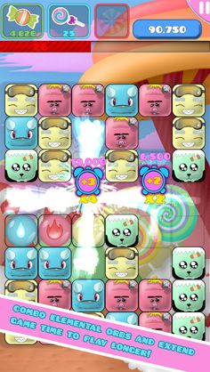 App Shopper: SUGARMONS (Sugar Monsters) - First Custom Match 3 Puzzle Game! (Games)