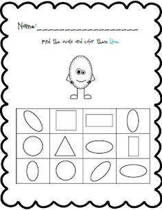 Shape and Color Practice Pre K Worksheets, Shapes Worksheet Kindergarten, Shapes Worksheets, Kindergarten Teachers, Numbers Preschool, Preschool Classroom, Preschool Shapes, Shape Activities, Preschool Ideas