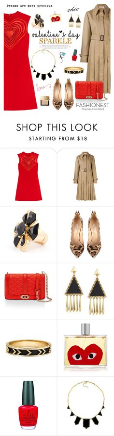 """""""Valntine's Day with Fashionest"""" by mada-malureanu ❤ liked on Polyvore featuring Christopher Kane, Marni, Casadei, Rebecca Minkoff, Comme des Garçons, OPI, Burberry, women's clothing, women and female"""