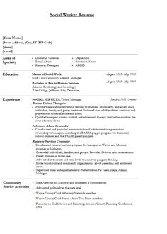 Modern Social Worker Resume | Template Sample