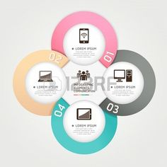 Modern Communication Technology #Circle #Origami style #Infographic #Design eTemplate
