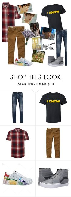 """""""the thing is"""" by elliewriter ❤ liked on Polyvore featuring Armani Jeans, Levi's, Hollister Co., Vans, men's fashion, menswear and elliewriterblogstory"""