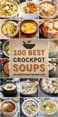 100 Best Crockpot Soup Recipes You are in the right place about Crockpot Recipes low carb Here we offer you the most beautiful pictures about the Crockpot Recipes rice you are looking for. When you examine the 100 Best Crockpot Soup Recipes part of the … Easy Soup Recipes, Healthy Crockpot Recipes, Easy Dinner Recipes, Easy Meals, Healthy Soup, Healthy Chicken, Crock Pot Soup Recipes, Easy Crockpot Soup, Skinny Chicken