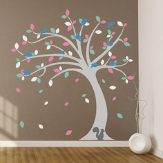 children's tree wall sticker set by oakdene designs | notonthehighstreet.com £60.00. Not sure how this one is different to the other one.