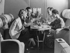 What struck me about these photos is how much they looked like train travel.  The airline industry is struggling and needs help in meeting the needs of regional travelers, like those needing to go from Toledo to Columbus or Cincinnati to Cleveland.  Vintage Air Travel: Scenes From The Air In A Bygone Era (PHOTOS)  Passengers enjoying a drink and a game of cards in the cabin of an Imperial Airways plane in 1936.