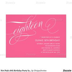 Get FREE 18th Birthday Invitations Wording FREE Printable