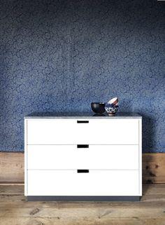 vacker blå tapet i Jämtland Poppel byrå H3 M3 skiva kalsten