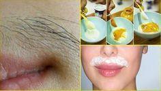 """Para mulheres: livre-se do """"bigode"""" e de pelos no rosto para sempre com esta…"""