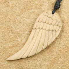 Adlerflügel weißes Holz Kettenanhänger Anhänger Online kaufen