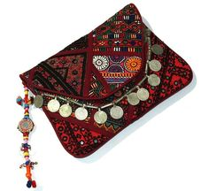 Vintage Banjara Clutch Gypsy Banjara Clutch by maharajacraftbazar