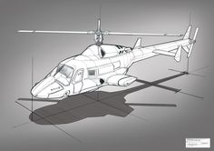 airwolf | sketch exploration of the airwolf combat helicopter from the 90 s tv ...