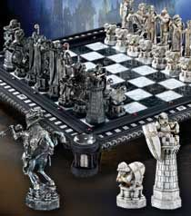 THIS is the chess set I want the most- a miniature (as in, not life-sized) version of the one from the movie, Harry Potter and the Sorcerer's Stone.
