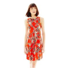 Joe Fresh™ Sleeveless Boatneck Print Dress   found at @JCPenney