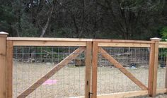 cedar cattle panel fencing with double gates