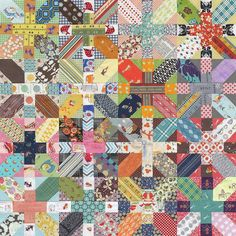 Japanese + and X Quilt by goneaussiequilting, via Flickr