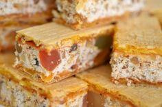Prajitura Nuga - Retete culinare by Teo's Kitchen Romanian Food, Cornbread, Coffee Shop, Foodies, Waffles, French Toast, Sandwiches, Bakery, Deserts
