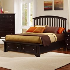Forsyth King Arched Storage Bed by Vaughan Bassett