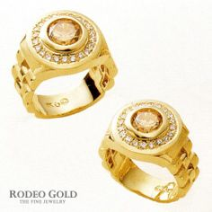 Gold rings with gemstones TCR77510
