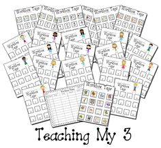 Teaching My 3: Free Workbox Tags and Planning Sheet