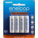 Sanyo Eneloop AA NiMH Pre-Charged Rechargeable Batteries - 4 Pack (Electronics)By Sanyo