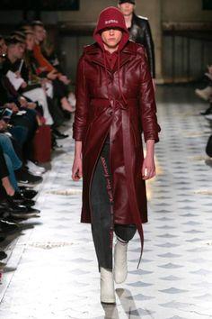 Vetements leather trenchcoat