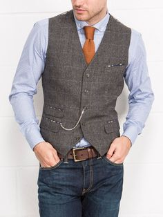 Gentleman Style 21181060731830189 - Slaters Collection // Heritage Tweeds Source by alainarpajon Vest Outfits, Casual Outfits, Casual Clothes, Stylish Men, Men Casual, Suit Fashion, Mens Fashion, Fashion Rings, Mens Suits Online