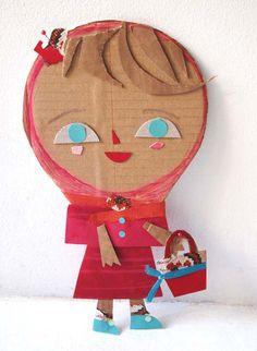 Little Red Riding Hood: Blanca Helga Cardboard Crafts, Paper Crafts, Cardboard Playhouse, Cardboard Furniture, Diy For Kids, Crafts For Kids, Fun Crafts, Arts And Crafts, Art N Craft