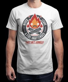 """""""Lonely Fire Demon"""" is today's £9/€11/$12 tee for 24 hours only on www.Qwertee.com Pin this for a chance to win a FREE TEE this weekend. Follow us on pinterest.com/qwertee for a second! Thanks:)"""