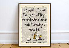Calvin and Hobbes dictionaty art print home decor present gift