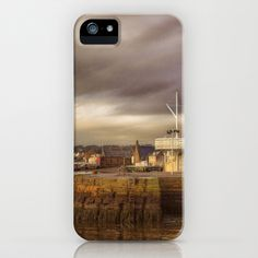 Broughty Ferry Harbour iPhone Case by Fiona & Paul Photography and Digital Art - $35.00
