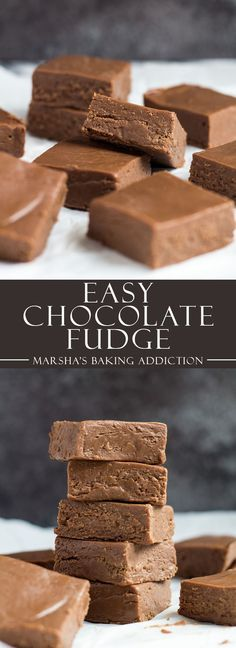 Easy Chocolate Fudge | marshasbakingaddiction.com @marshasbakeblog