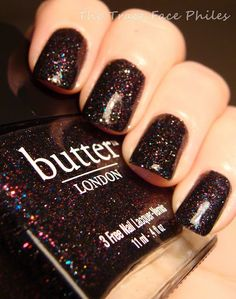 black knight, nail polish, holiday nails, color, butter london